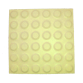Yellow Stud Ceramic Tactile Tile