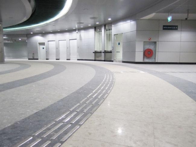 Tactile Indicators at MRT Entrance