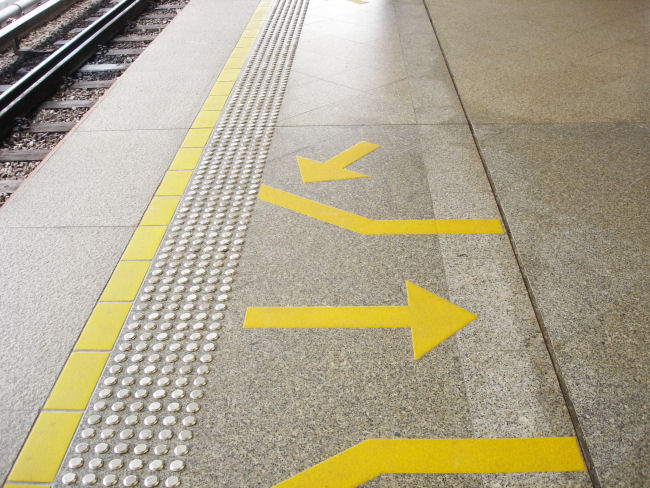 Tactile Indicators Leading to MRT Platform